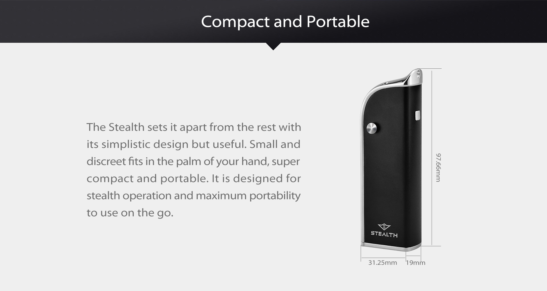 Yocan Stealth sets it apart from the rest with its simplistic design but useful.