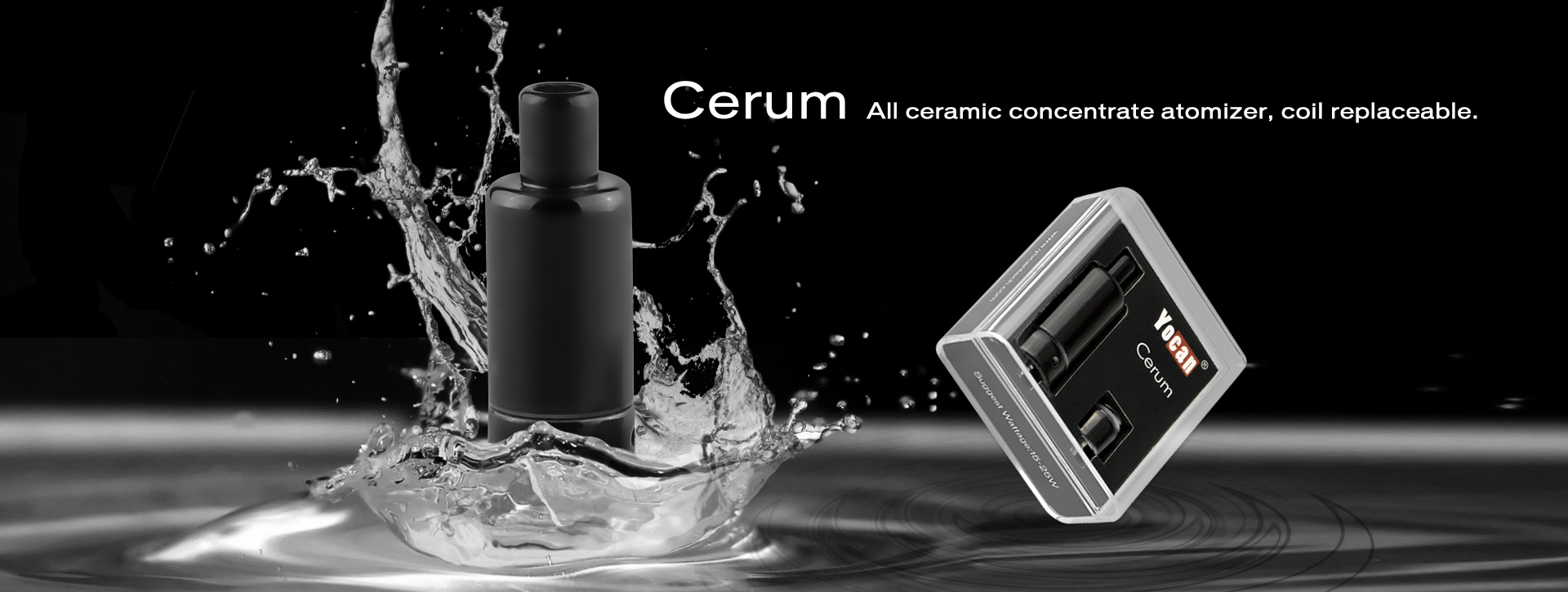 The Yocan Cerum uses a quartz dual coil and a ceramic donut coil for the best waxy sessions on the market