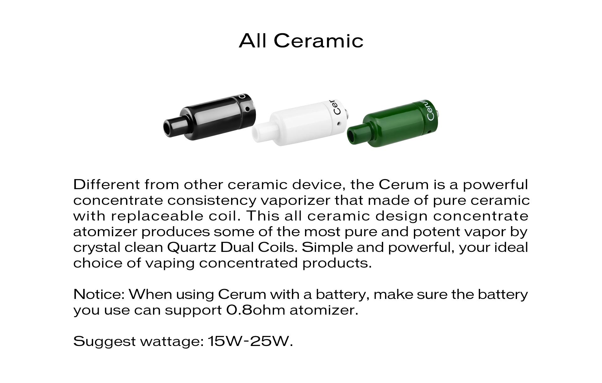 Yocan Cerum Ceramic Wax Atomizer with Quartz Dual Coil (QDC)