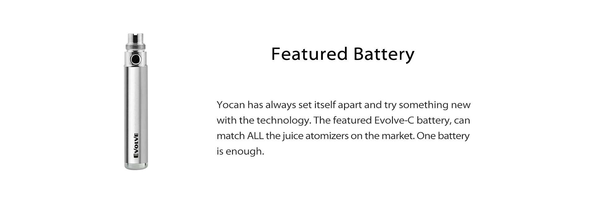 Yocan Evolve C Wax Oil Vaporizer Pen kit features a 650mAh battery