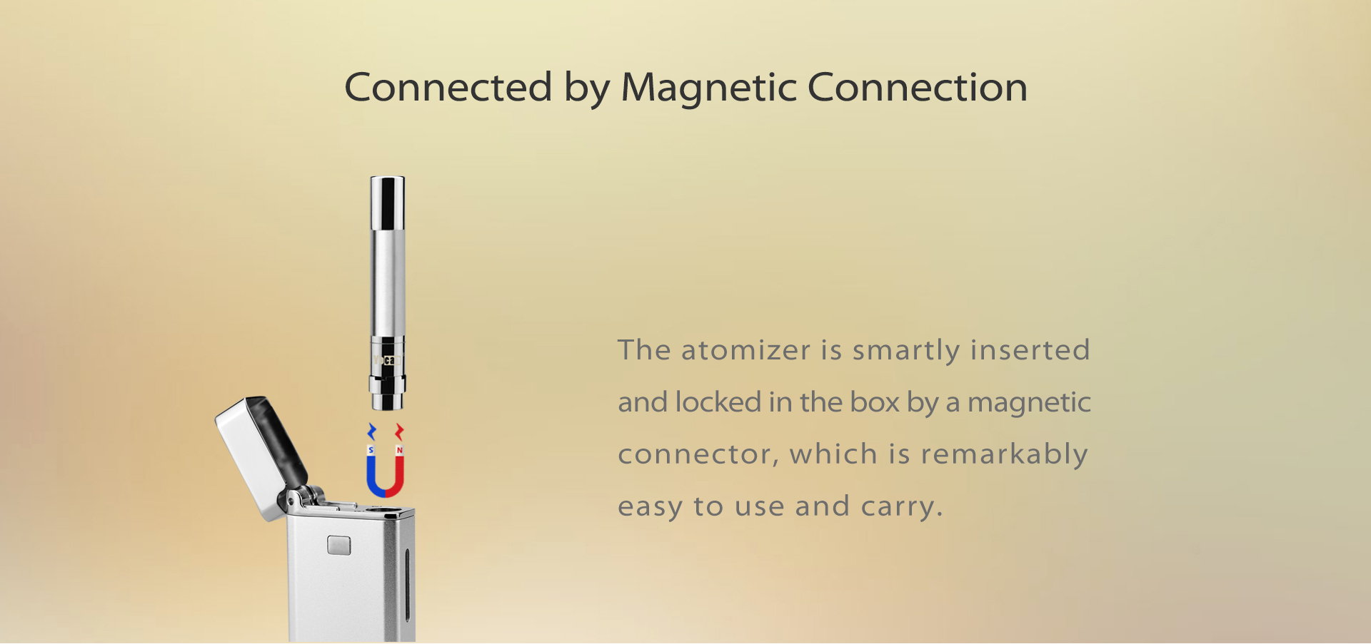 Magnetic connector adapter for Yocan Flick 2.0 Vaporizer.
