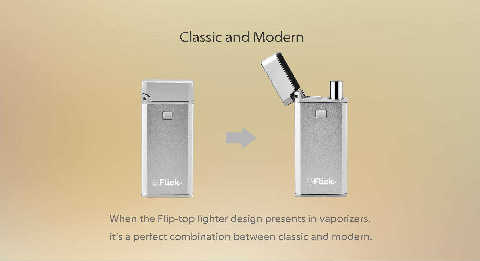With the flip top closed, the Yocan Flick is a very discreet device.
