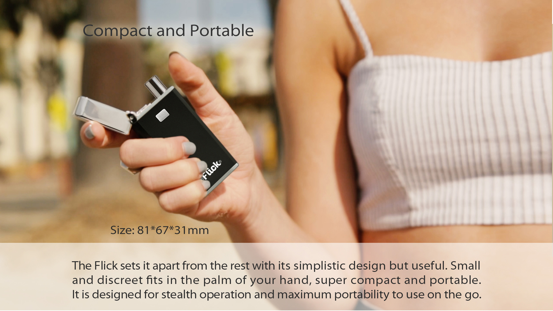 Yocan Flick is a small and compact device but with powerful features