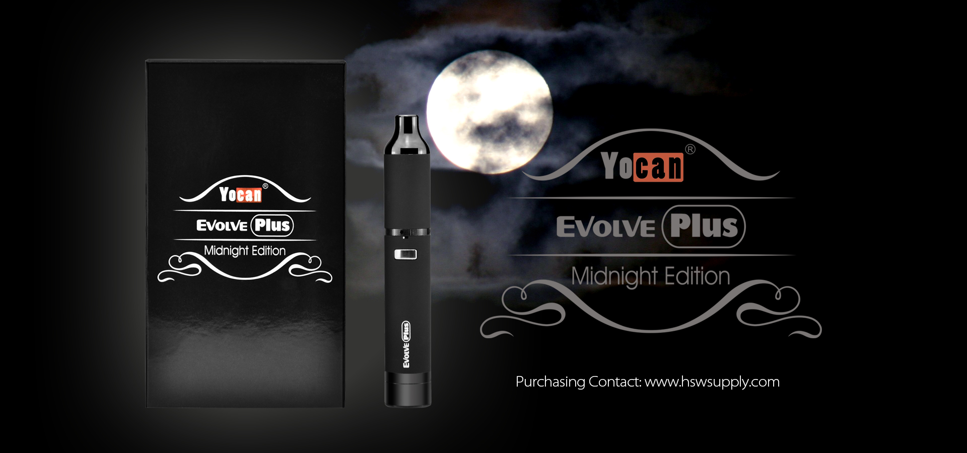 The Yocan evolve plus Midnight Edition is sleek and stealthy in all black