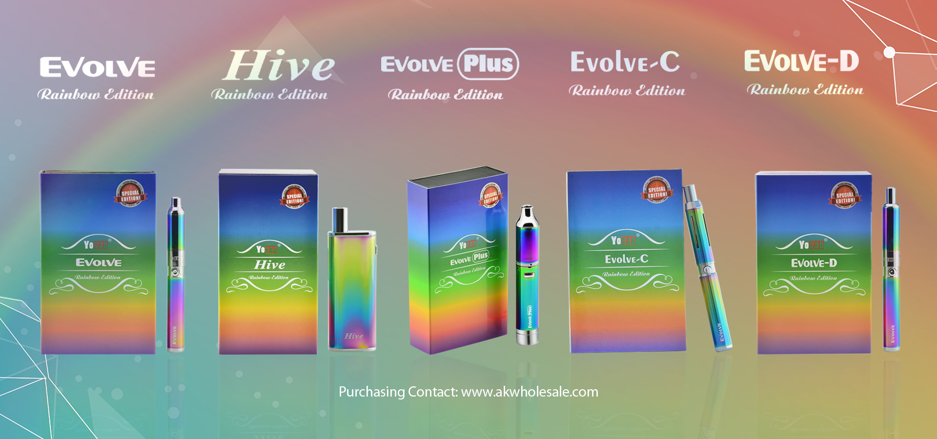 Yocan Rainbow Edition Vape pen comes with everything one needs to start having the ultimate vaping experience on the go.
