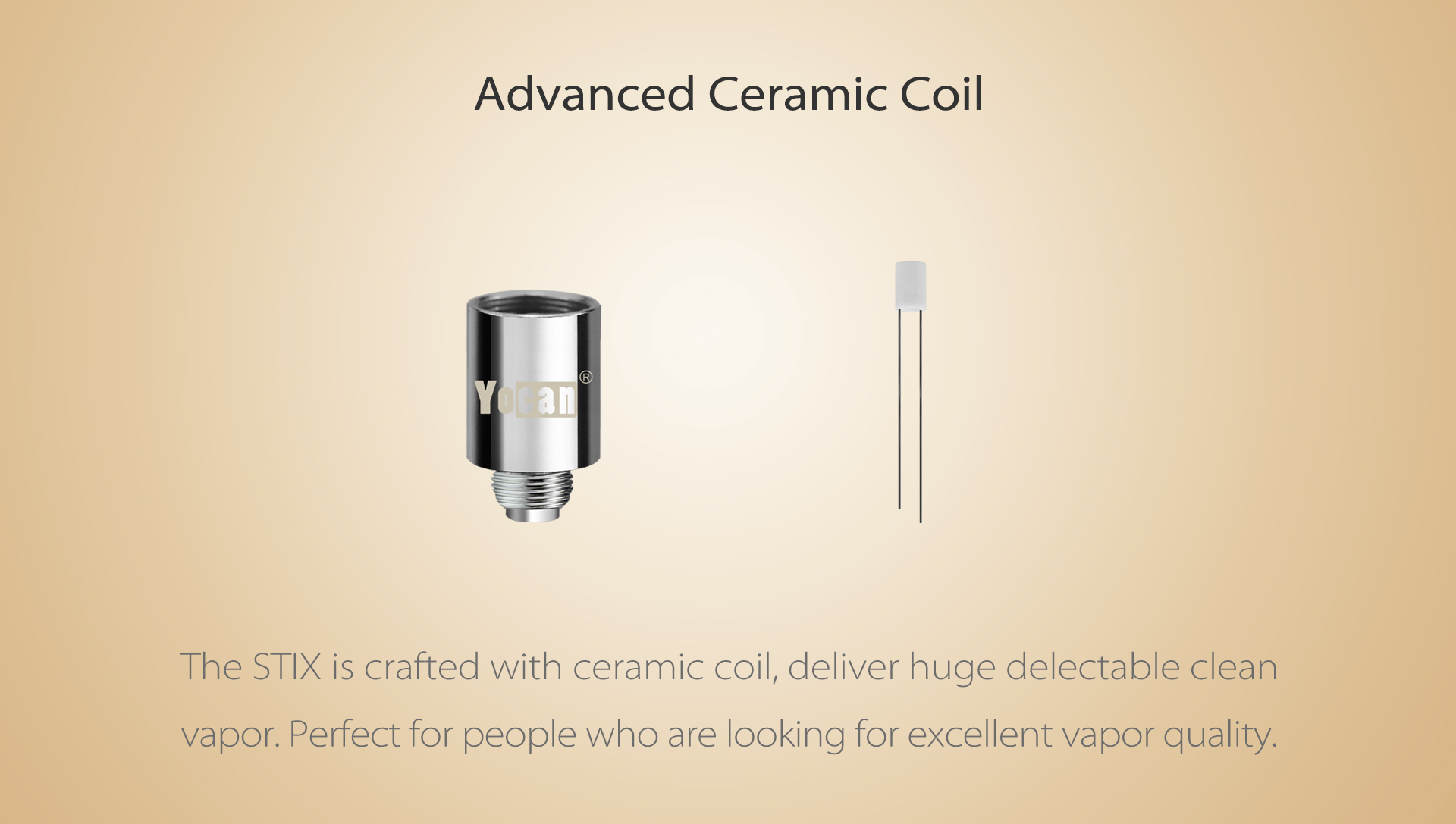 Yocan STIX Starter Vape Pen Kit is crafted with ceramic coil.