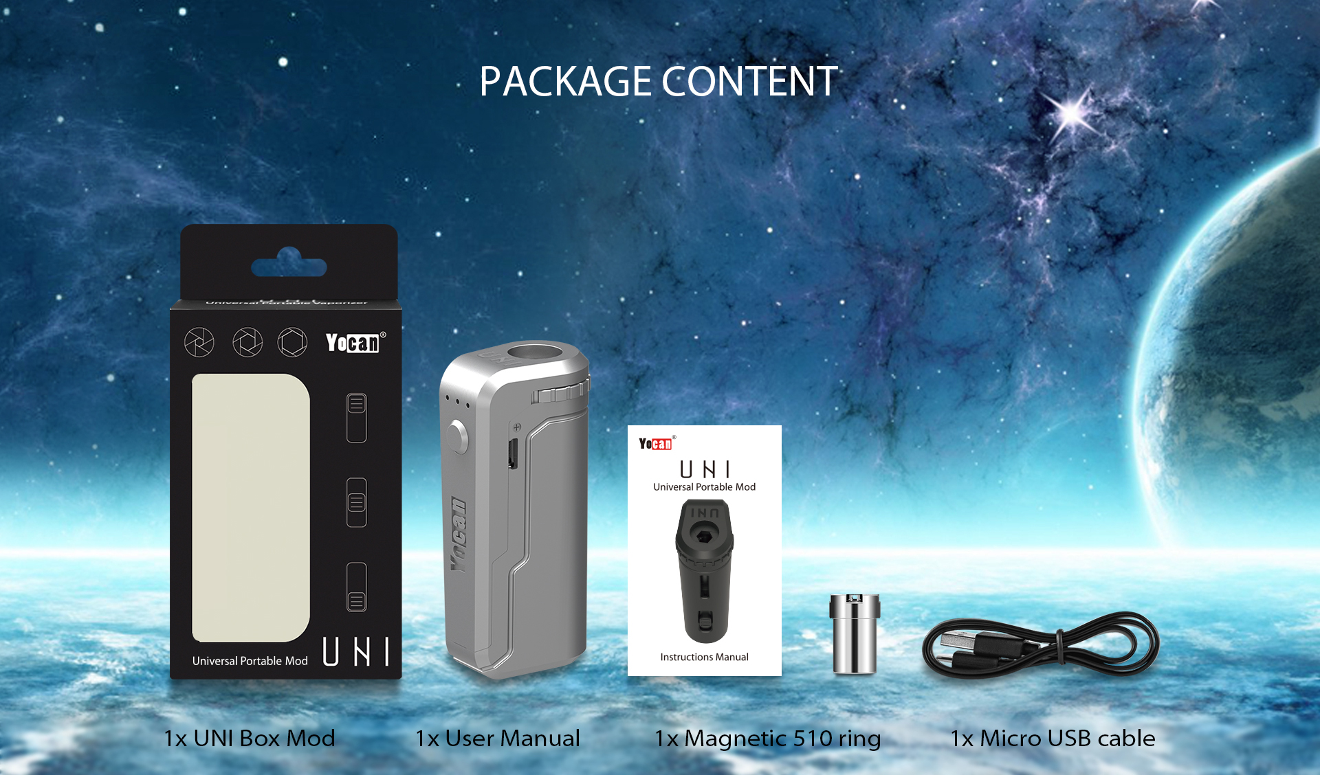 Yocan UNI package content