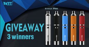 Yocan Evolve Plus Vape Pen Giveaway [April] 2