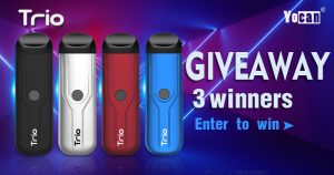 Yocan Trio 3-in-1 Pod System Vape Pen Giveaway [May]