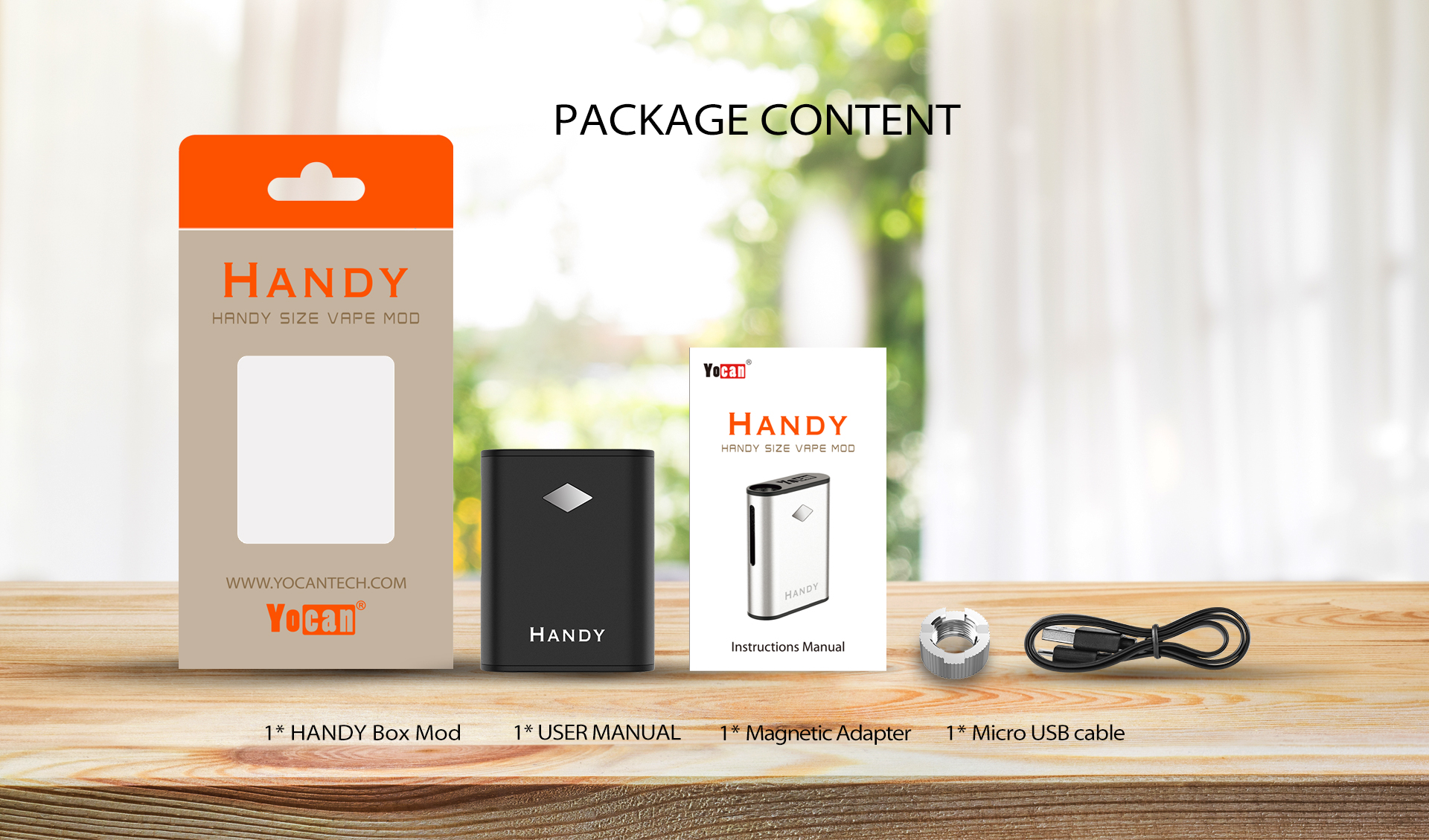 Yocan Handy Vape Battery Package Content