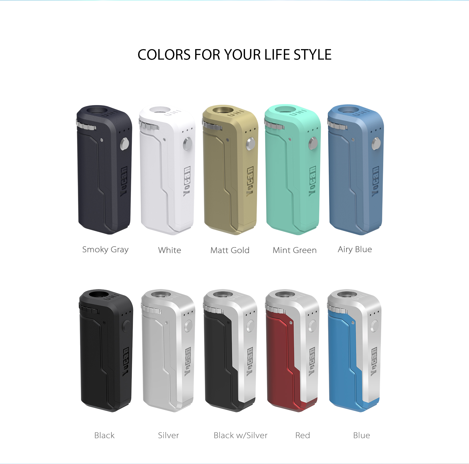 Yocan UNI box mod 10 colors for your life style