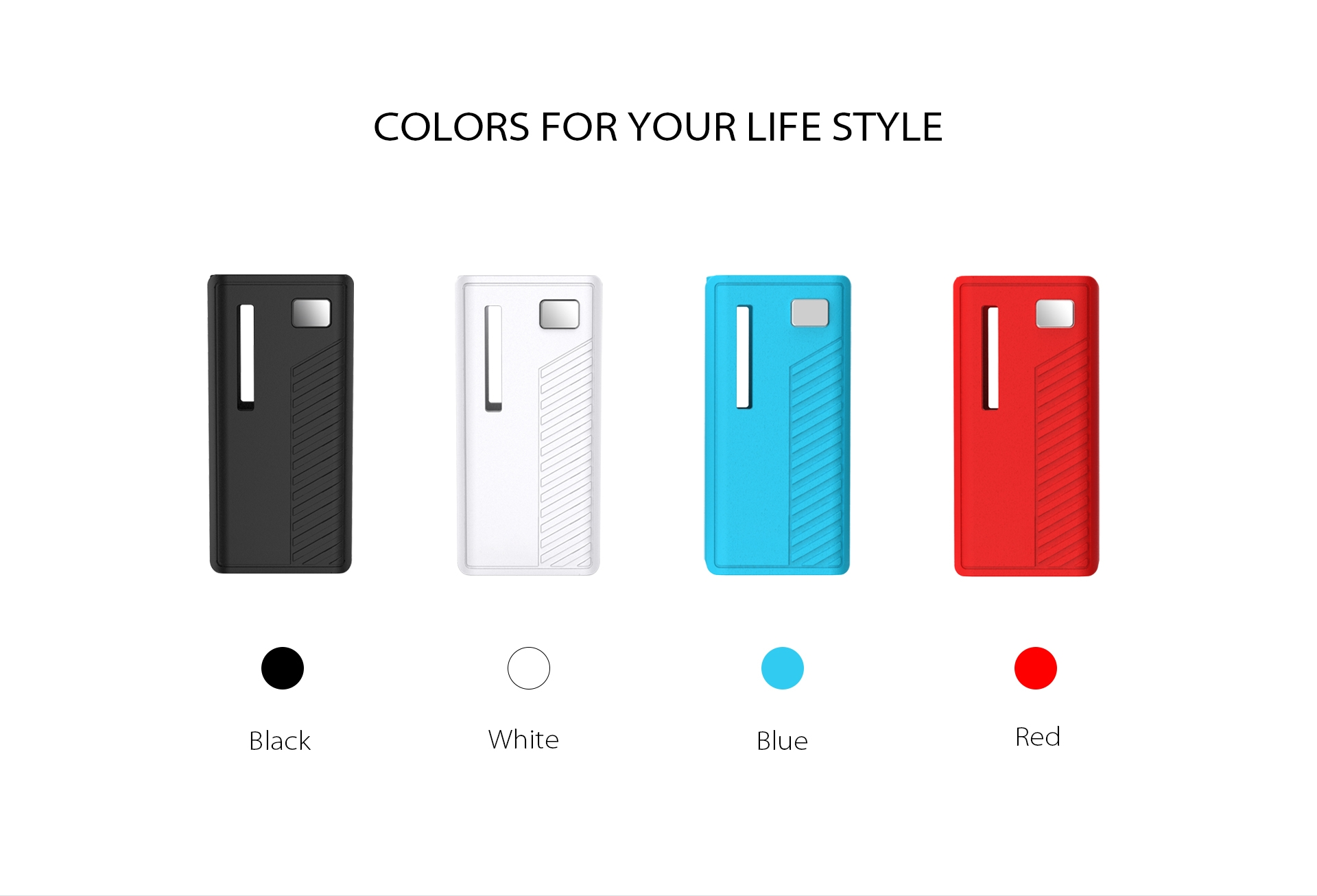 The Yocan Rega Box Mod Battery come with 4 colors.