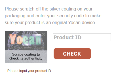 Please inpur your Yocan Product ID