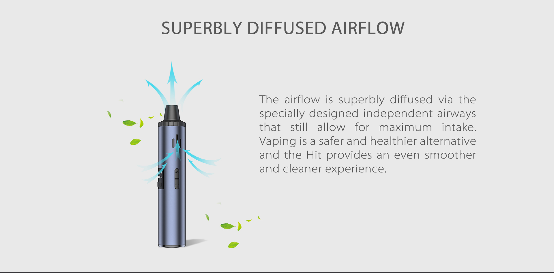 Yocan Hit Vaporizer Pen come with Superbly Diffused Airflow