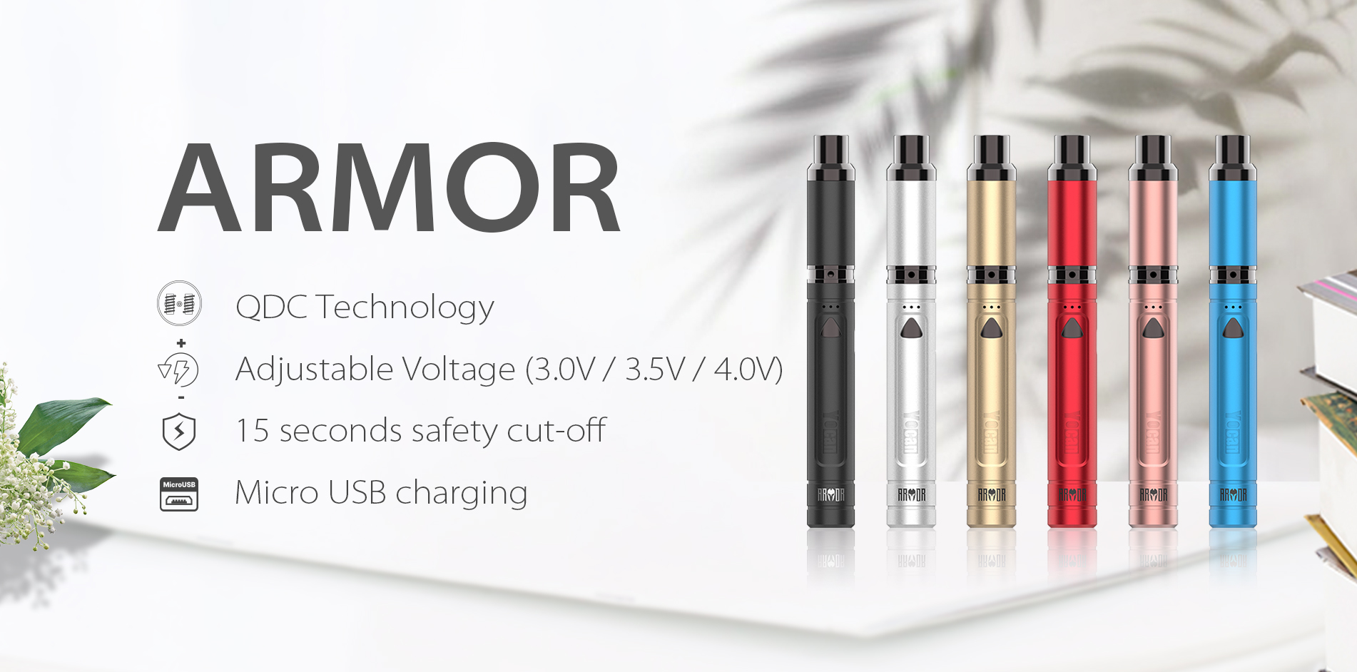 Yocan Armor Vaporizer pen has everything you need for vaping on the go in any place.