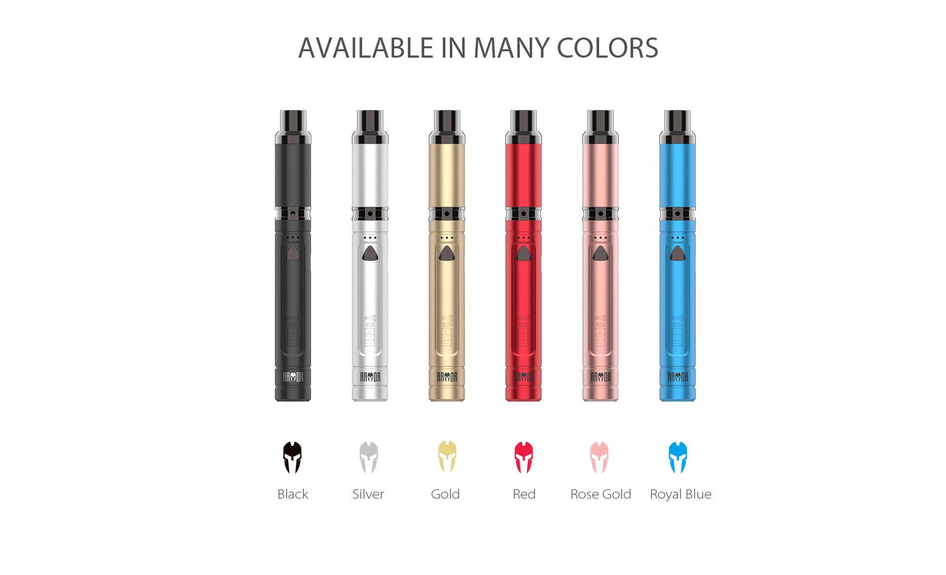 Yocan Armor Vaporizer pen comes with 6 stylish colors.