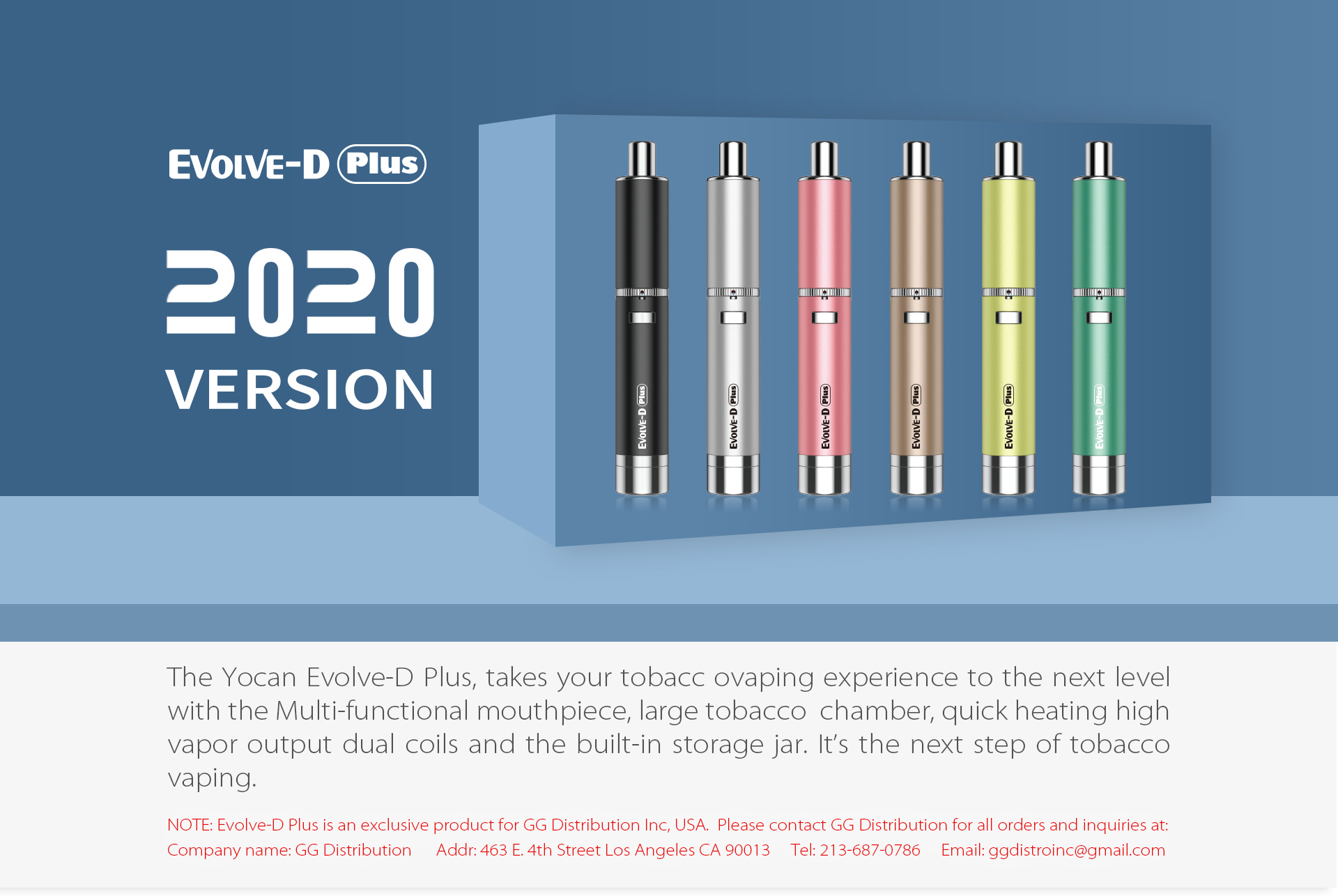 Toke on the go conveniently and discreetly with the Yocan Evolve-D Plus 2020 version easy to use e-pipe combustion pen for dry herb and flower blends.