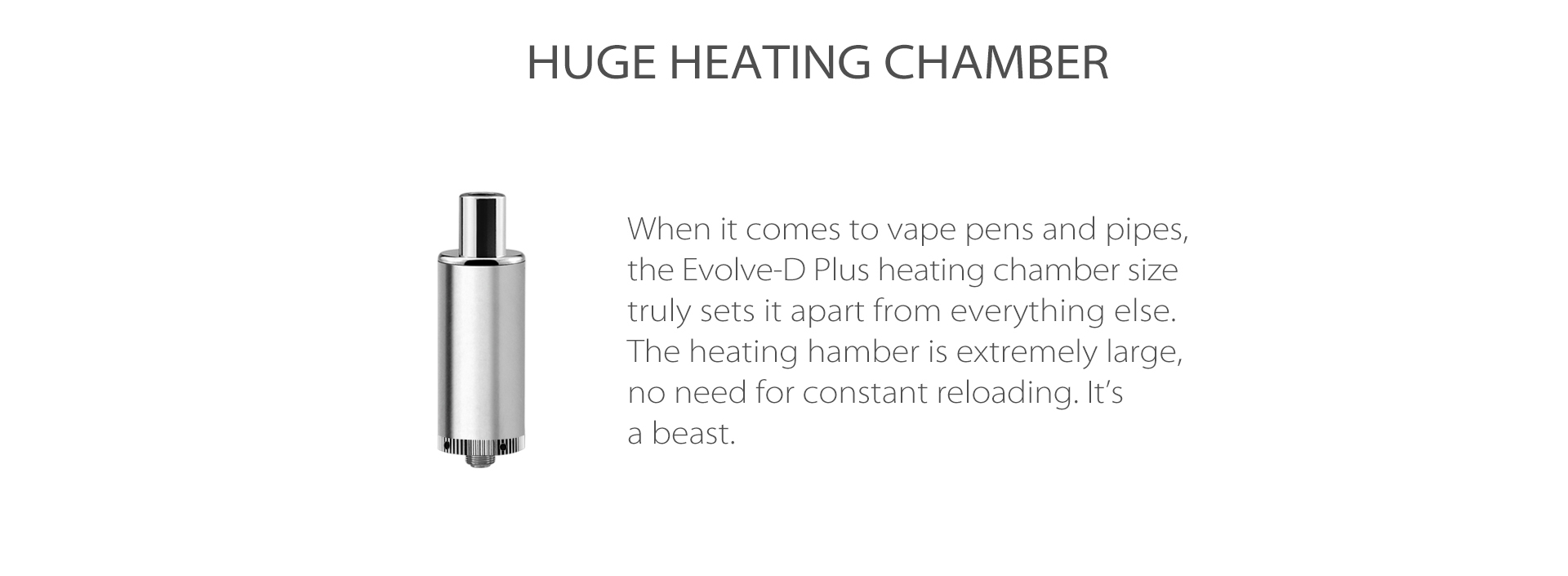Yocan Evolve-D Plus vaporizer pen 2020 version has a bigger battery and a bigger herb chamber.