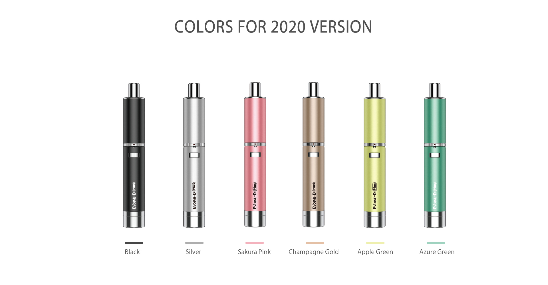 Yocan Evolve-D Plus vaporizer pen 2020 version has 6 colors.