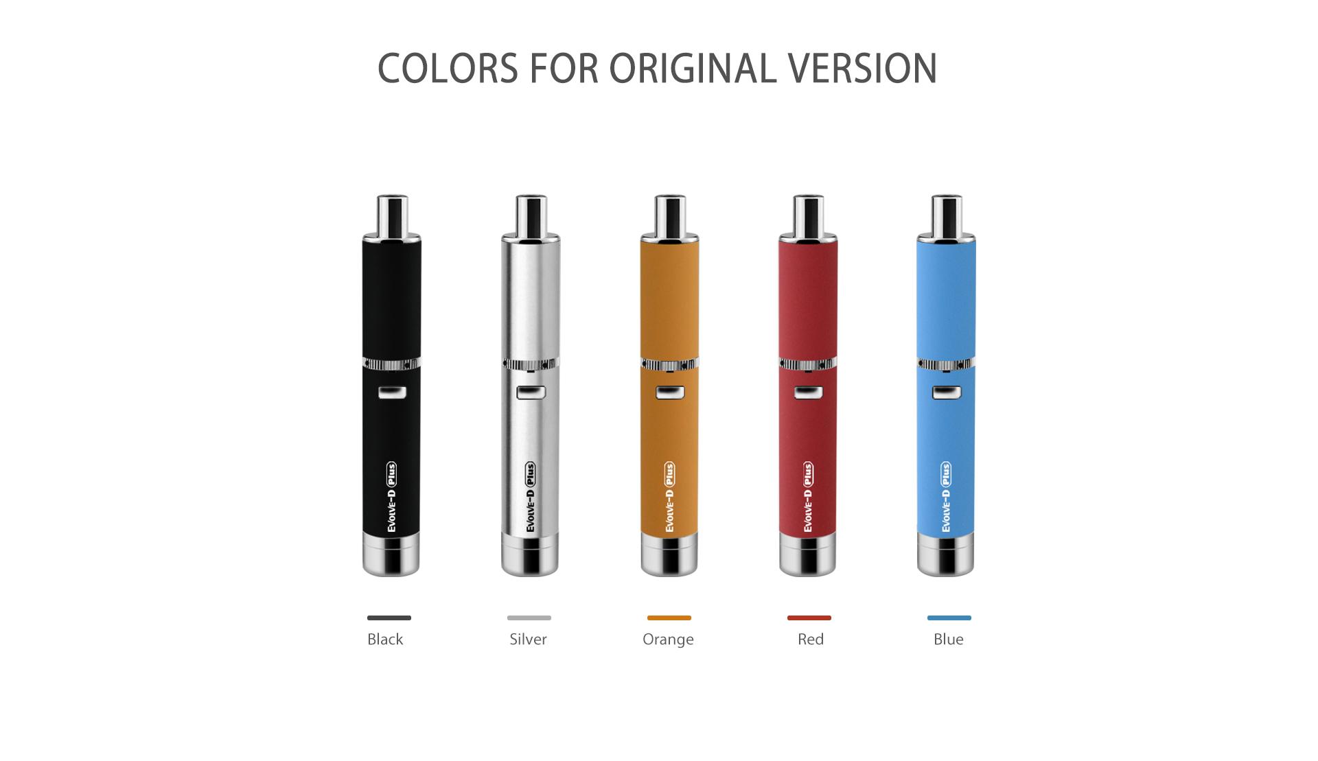 Yocan Evolve-D Plus vaporizer pen original version has 5 colors.