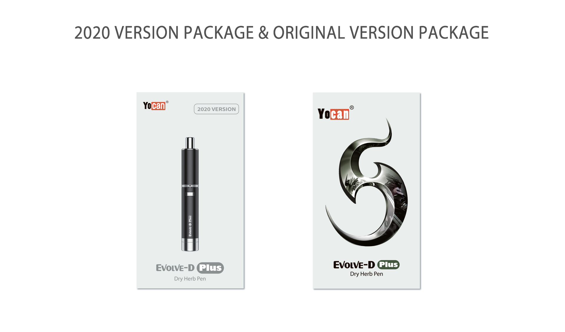 Yocan Evolve-D Plus vaporizer pen 2020 version package box.