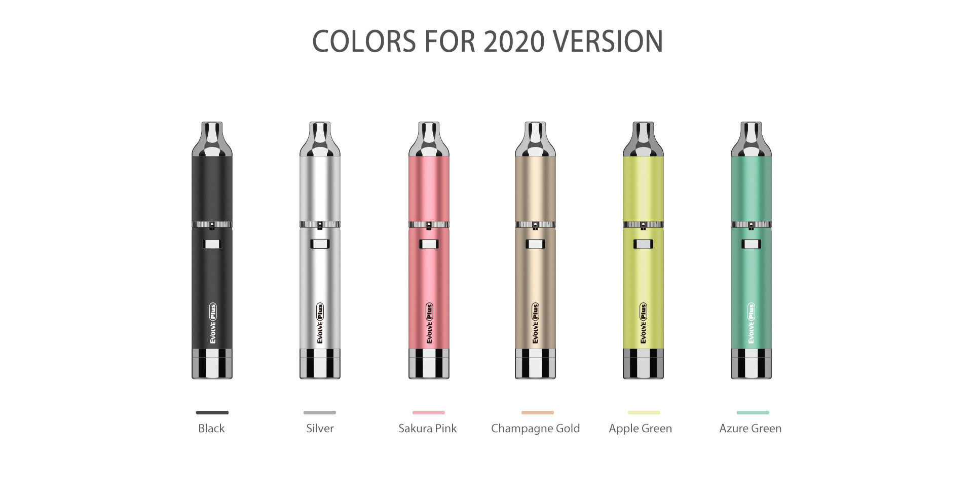 Yocan Evolve-Plus vaporizer pen 2020 version has 6 new colors.