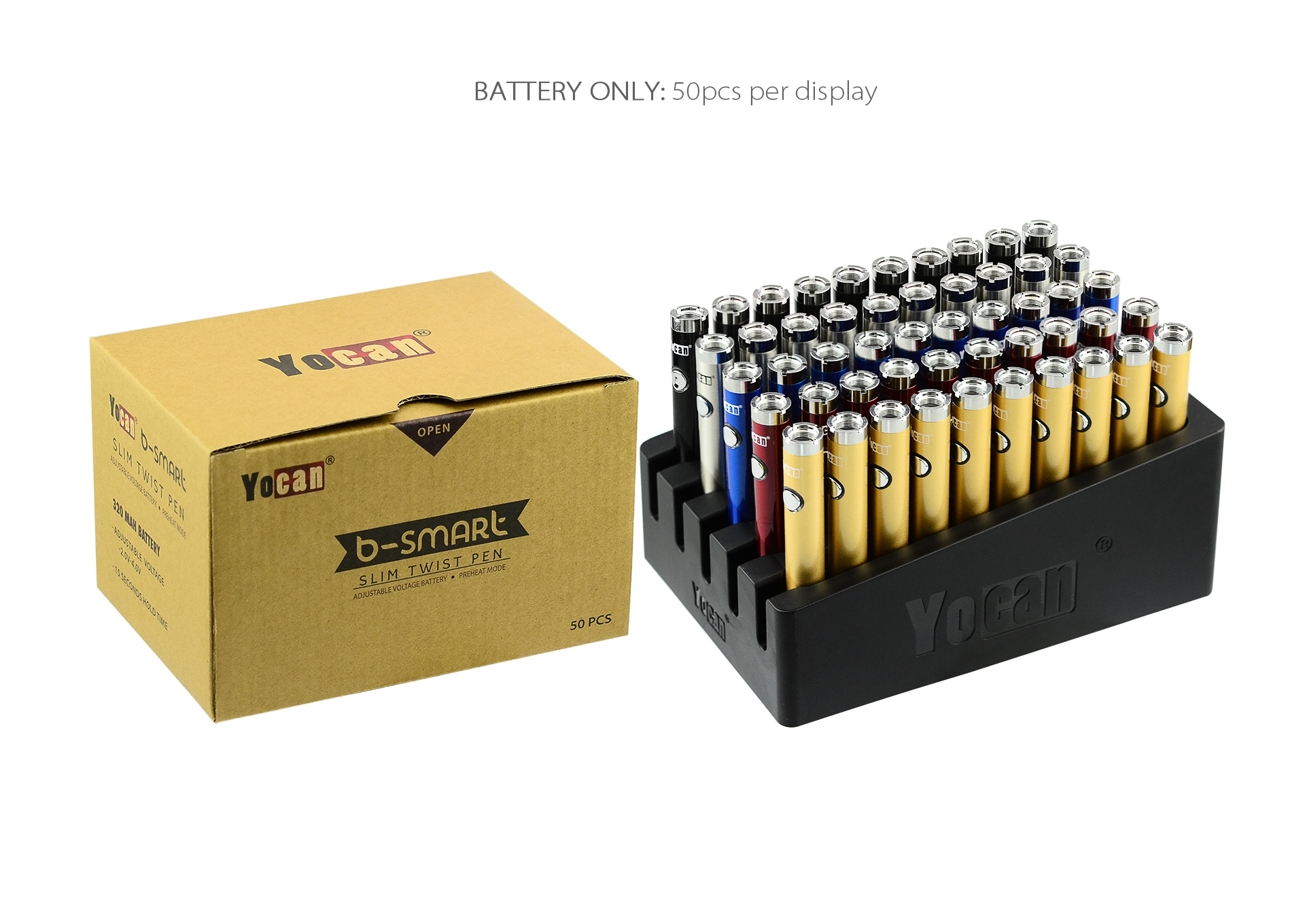 Yocan B-smart Twist VV Slim Vape Pen Battery package.