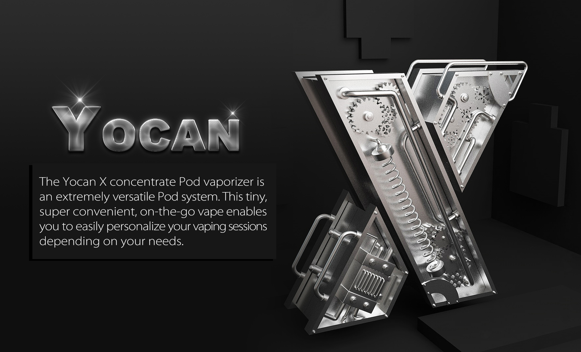 Yocan X Pod System enables you easily personalize your vaping sessions depending on your needs.