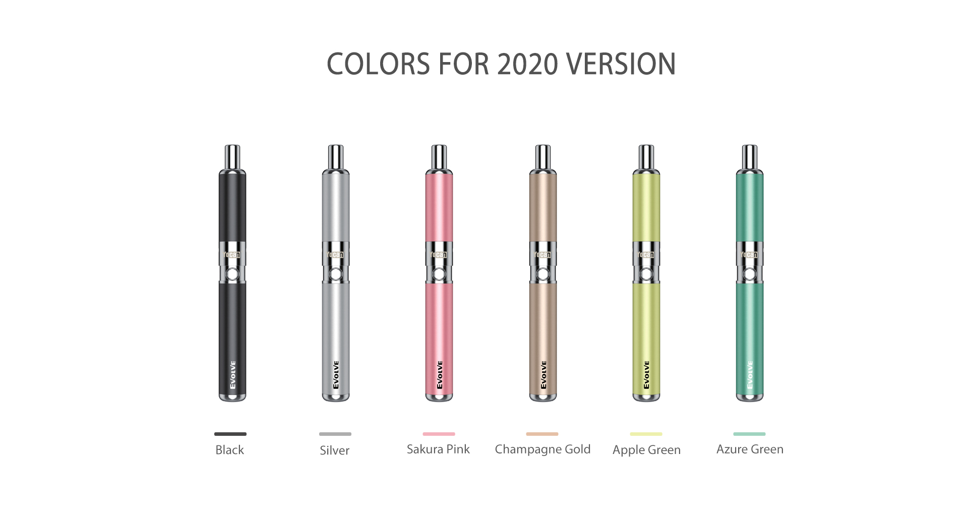 Yocan Evolve-D vaporizer pen 2020 version has six new colors.