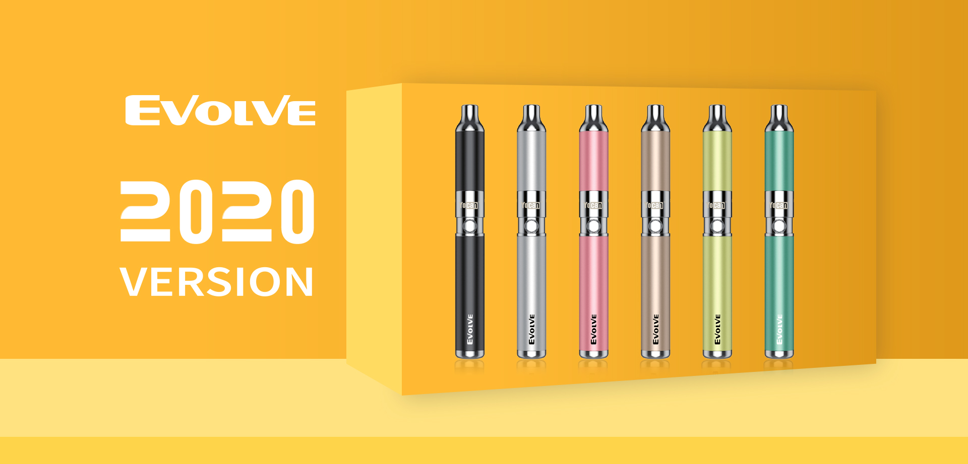 The Yocan Evolve vape pen 2020 version is a discreet sleek wax vaporizer mod that delivers huge clean hits with it's Quartz Dual Coil (QDC) Technology.