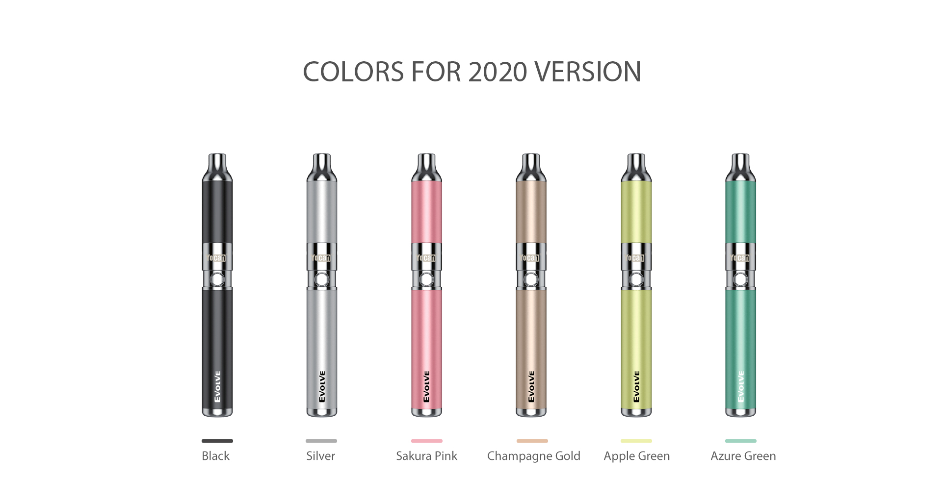 Yocan Evolve Vaporizer 2020 Version comes with 6 colors.