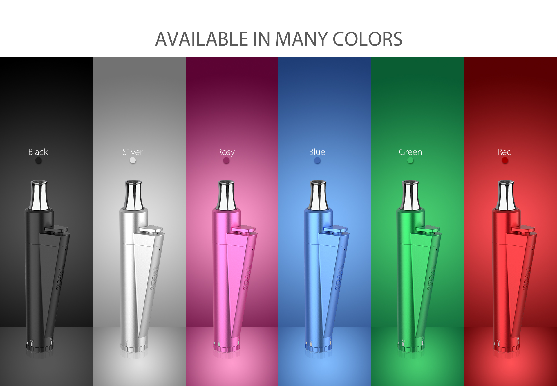 Yocan Lit Twist Concentrate Vaporizer comes with 6 colors.