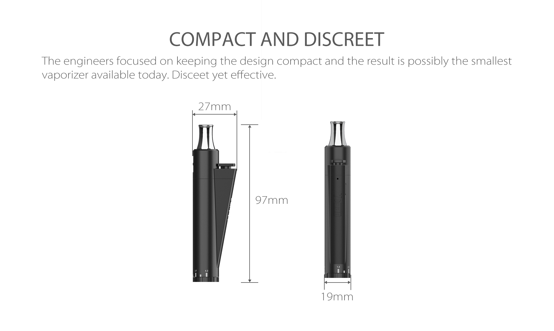 Yocan Lit Twist Concentrate Vaporizer is very compact and discreet.