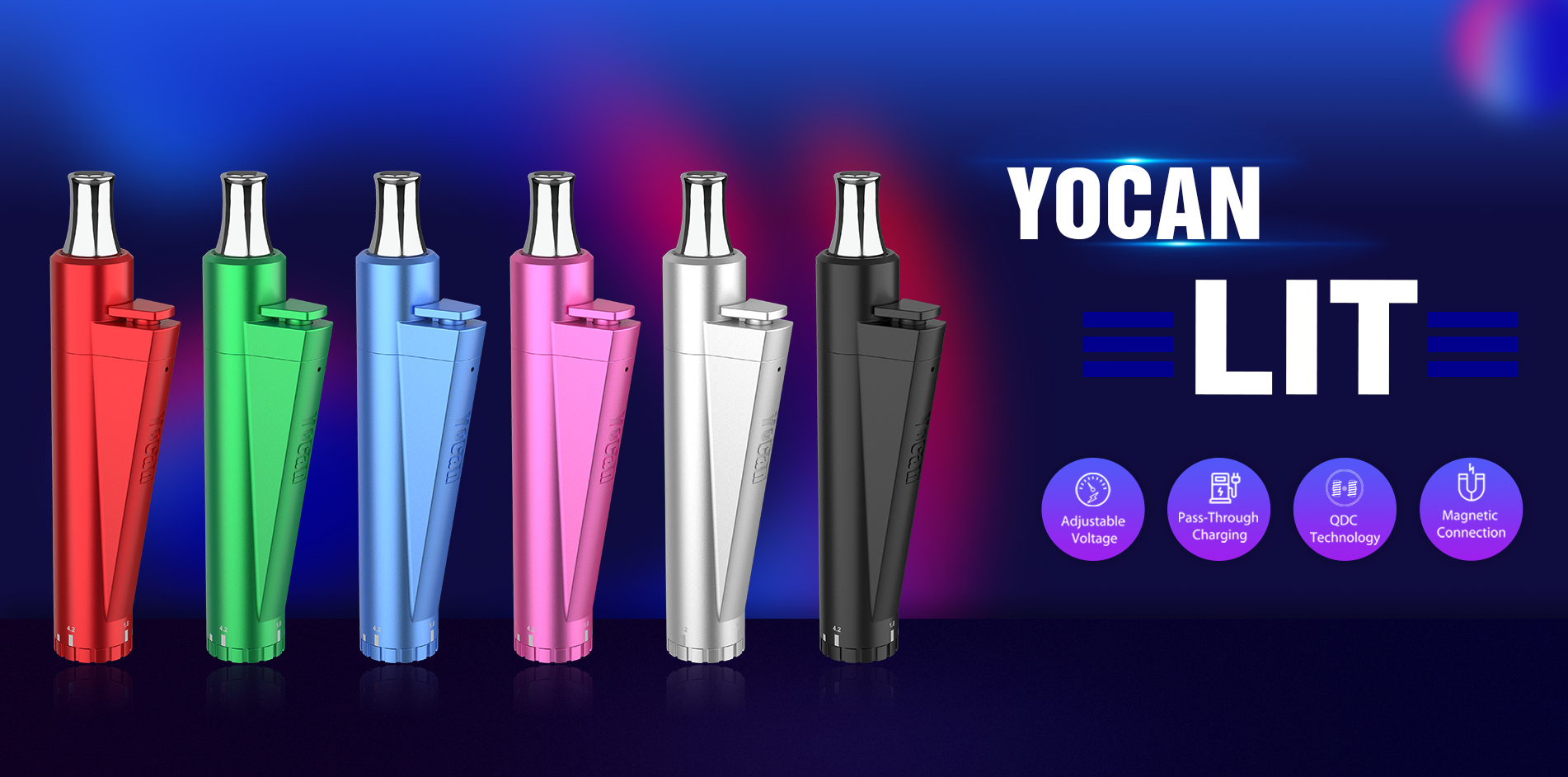 Yocan LIT, a twist pocket-sized vaporizer meets all your on the go vaping needs.