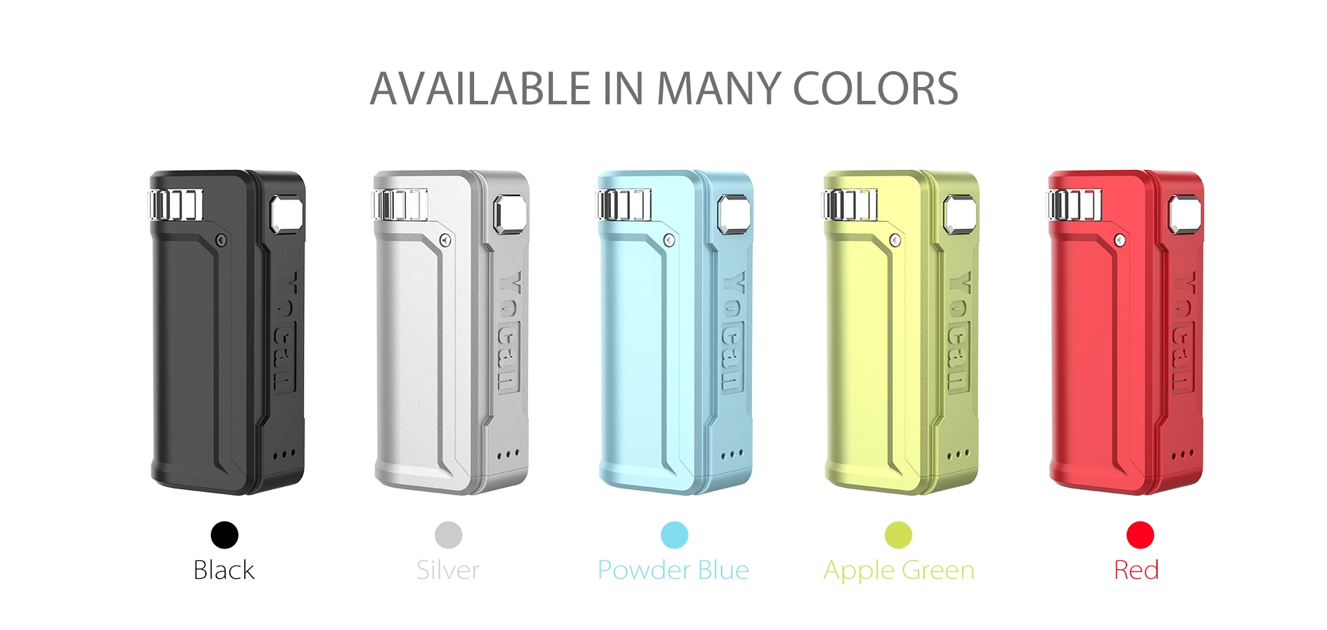 Yocan UNI S Box Mod available in five stylish colors.
