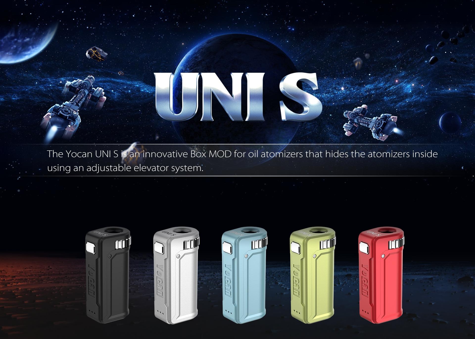 Yocan UNI S Box Mod is an innovative VV Box MOD.