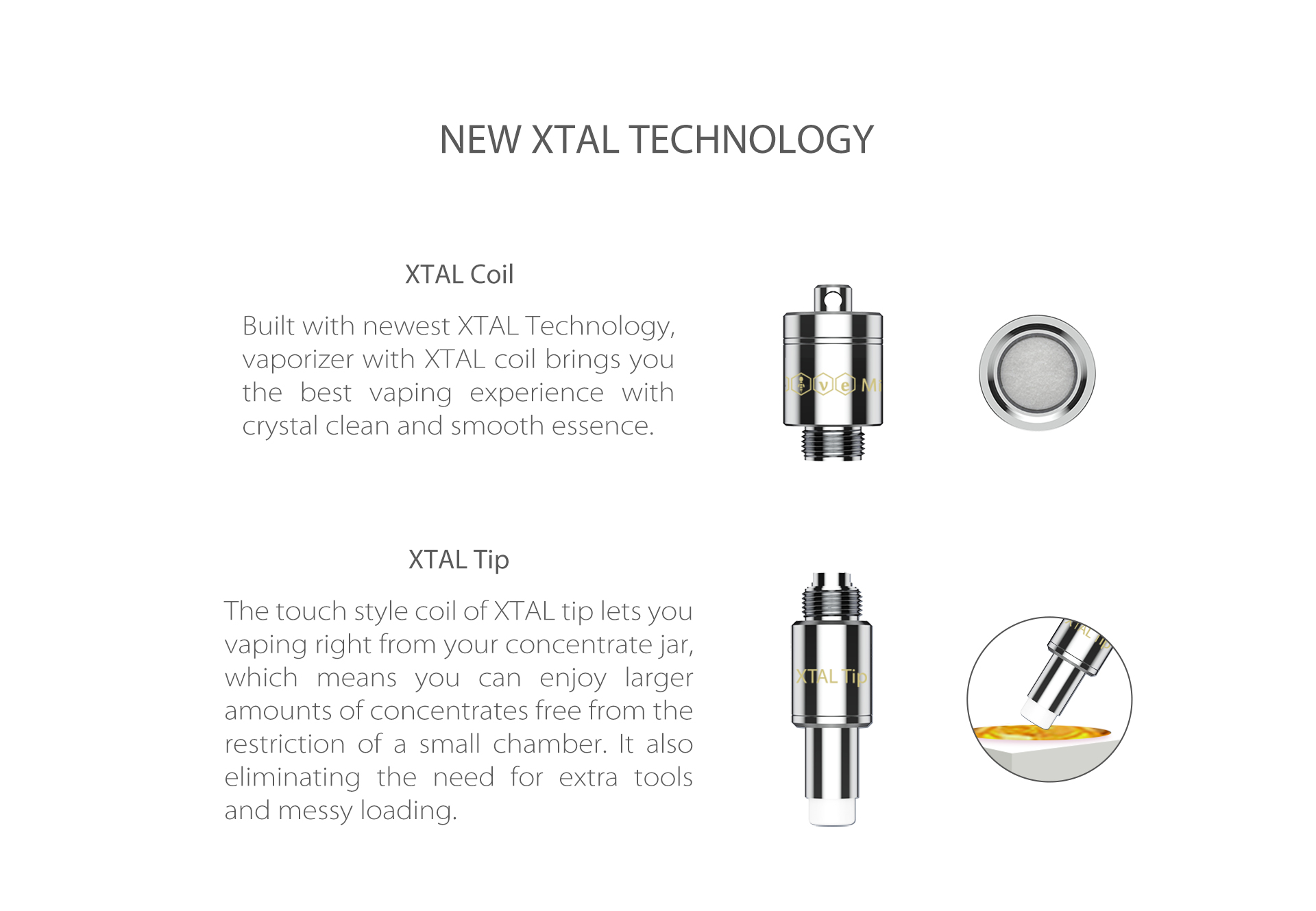 Yocan Dive Mini vaporizer comes with new XTAL technology.