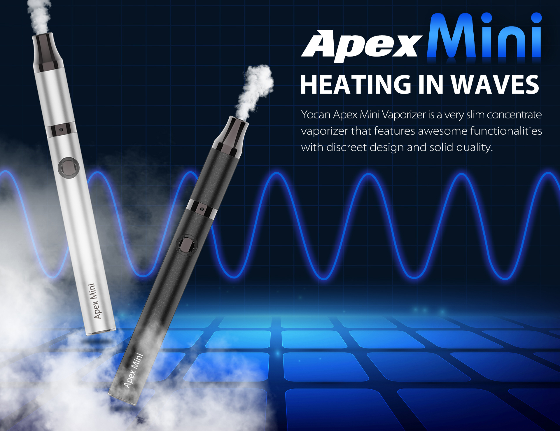 Yocan Apex Mini vape pen provides you with the purest experience, guarantees a crystal clean and smooth essence.