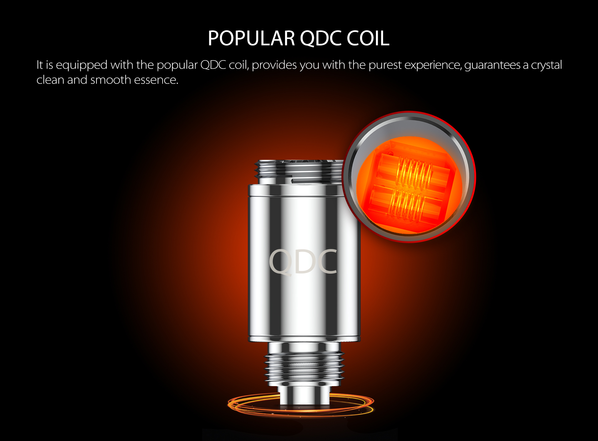 Yocan Apex Mini vape pen is equipped with the popular QDC coil