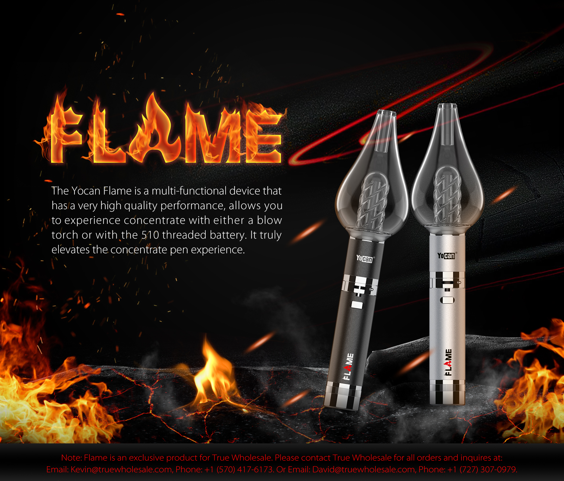 The Yocan Flame is a multi-functional device