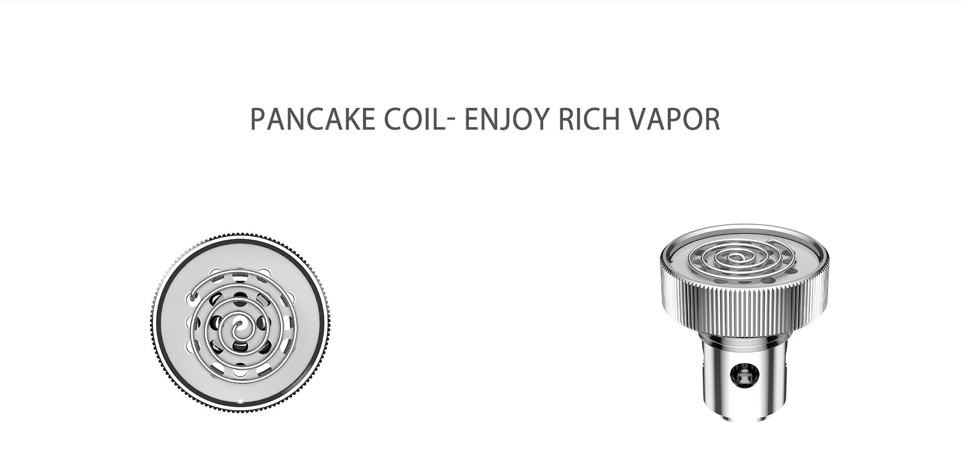 Yocan Evolve-D vaporizer pen 2020 version features pancake dual coil, enjoy rich vapor.