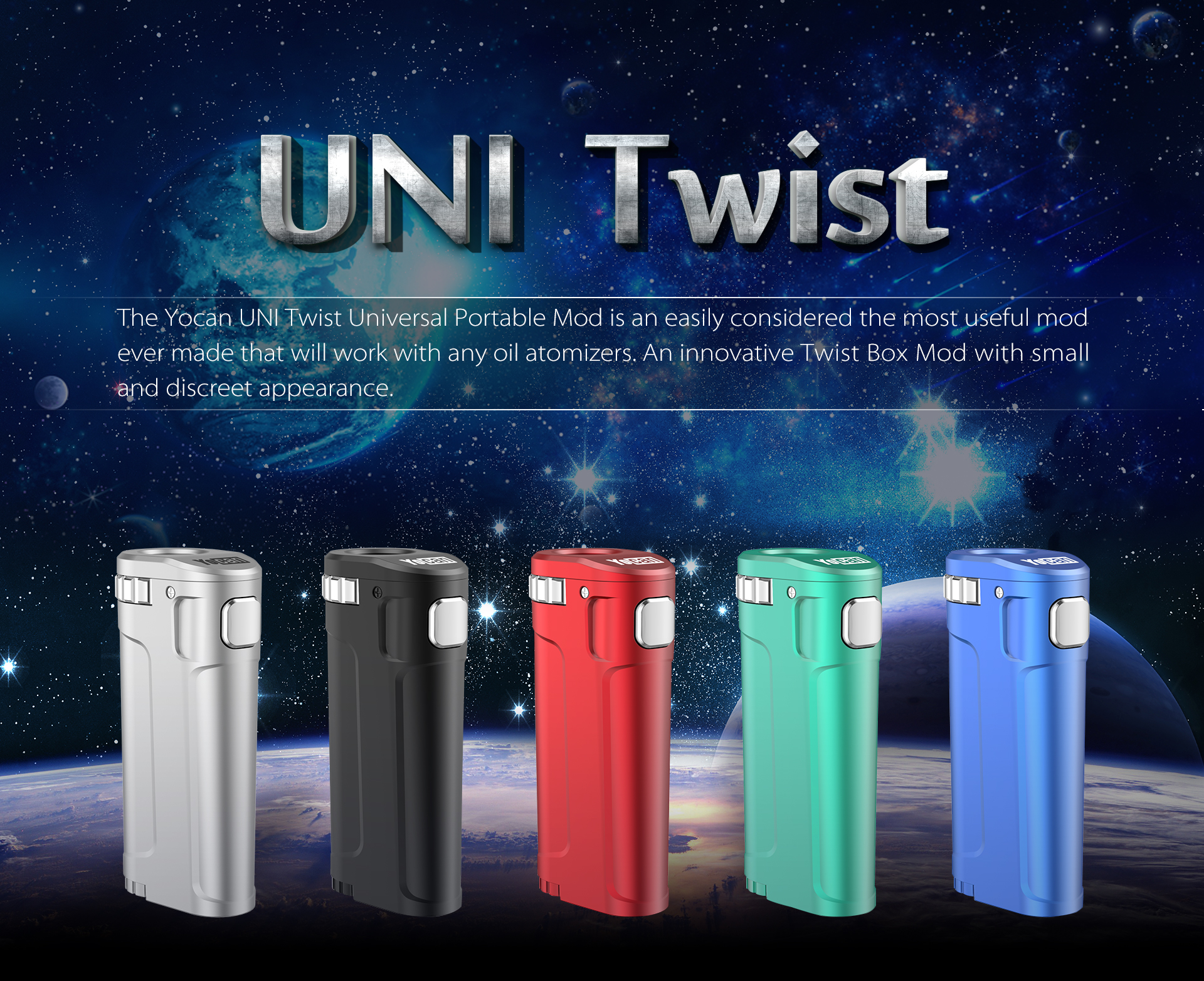 The Yocan UNI Twist Universal Portable Mod is an easily considered the most useful mod ever made