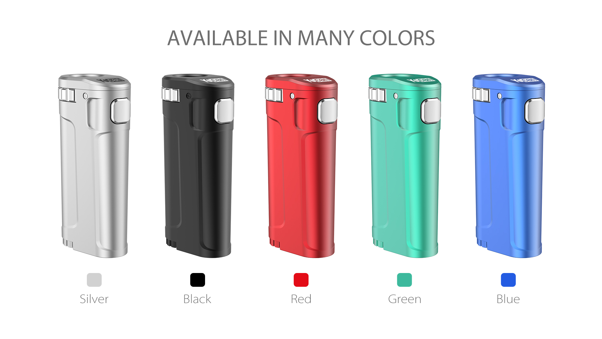 Yocan UNI Twist Universal Portable Mod comes with 5 stylish colors.