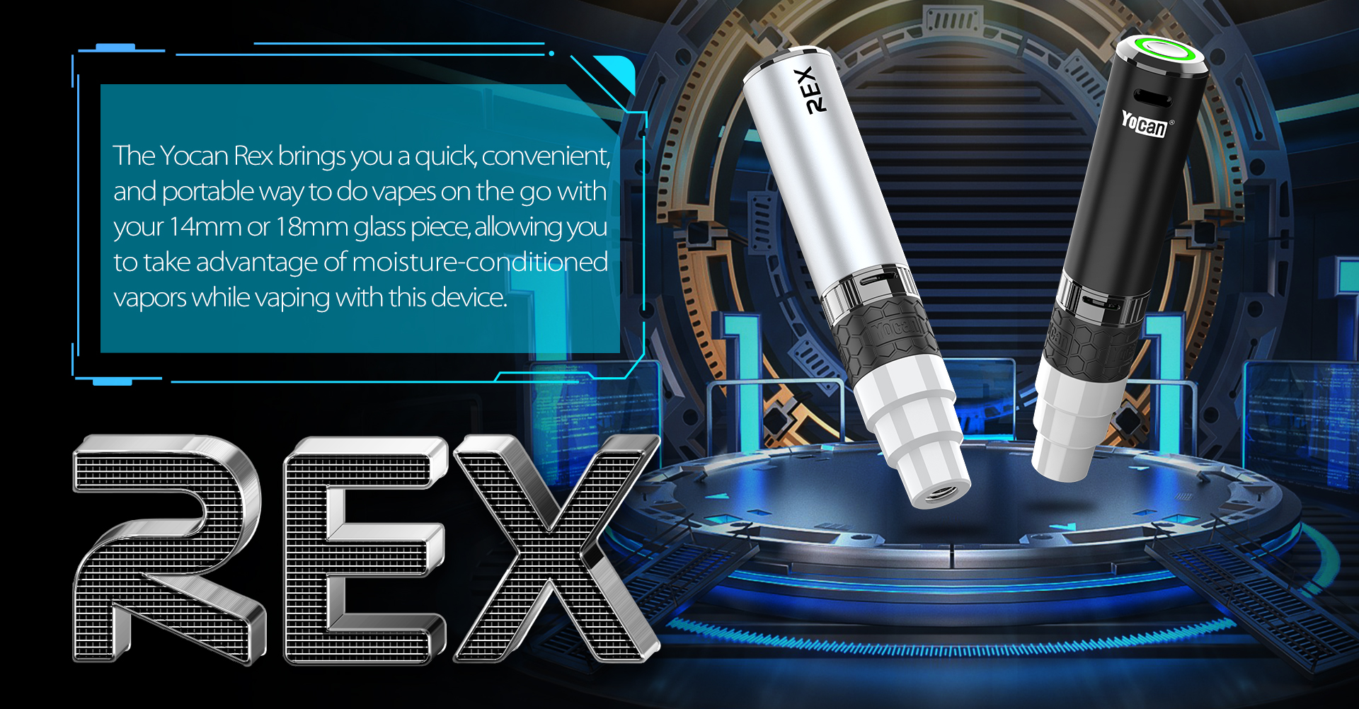 The Yocan Rex brings you a quick, convenient, and portable way to do vapes on the go