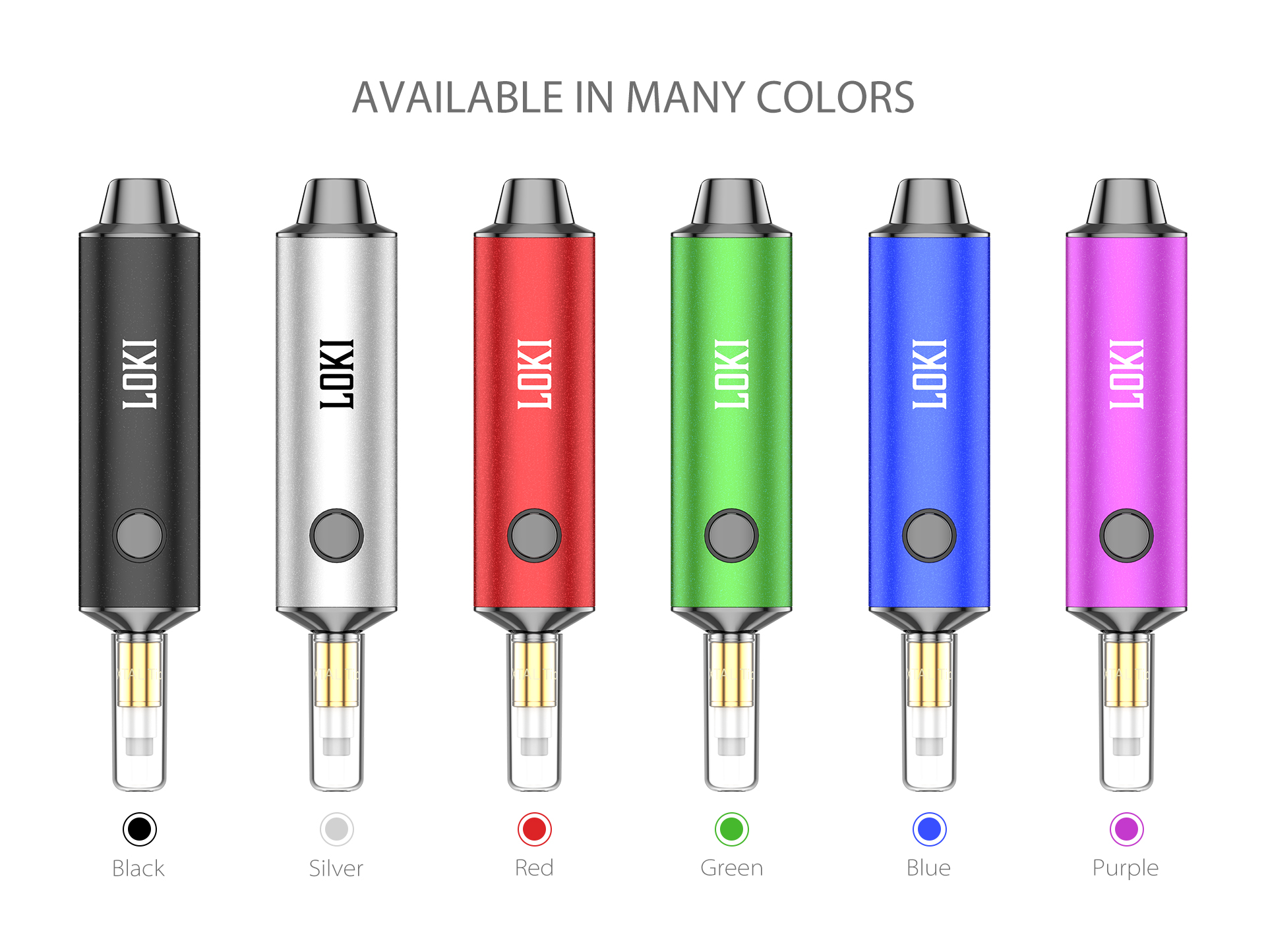 Yocan Loki Portable Vaporizer Pen available in many colors.