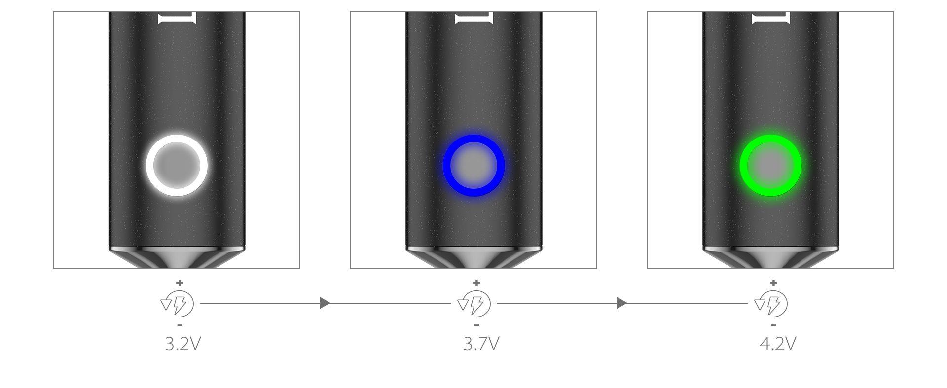 Yocan Loki Portable Vaporizer Pen Featured 3 voltage levels.